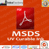 MSDS for UV Curable Inks