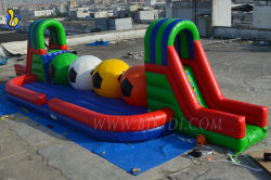 Football Ball Design Inflatable Wipeout Sport Game B6052