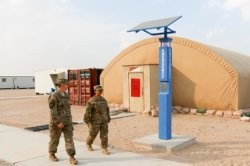 SOS Call Box installed at Camp Buehring US Army