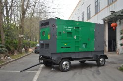 Trailer mounted soundproof portable diesel generator
