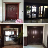 cherry wood doors entry door sliding wooden frame glass door