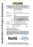 office desk RoHS certificate