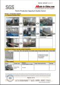 SGS Certification Report of Production Quality and Quality Control Process
