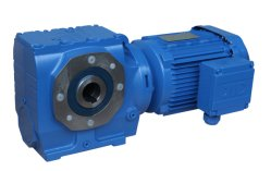 helical-worm gear unit