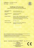 CE certificate for milling machine