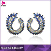 guangxi foxi jewelry supplier new designs brass earring