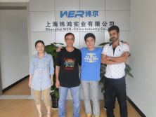 Customer from Iran to view our A2 uv printer and solvent printer