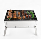 Folding one BBQ grill in one notebook size