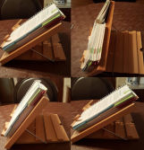 Beech wood book stand/wood rack