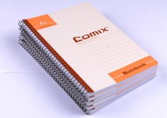 Double wire binding notebook