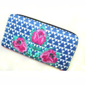 fashion fabric wallet with printing and embroidery