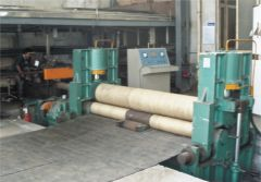 Large plate coiling machine