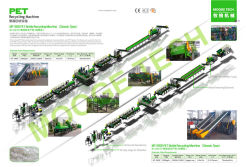1000 kg/h and 2000kg/h PET recycling machine