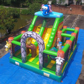 Rainbow finished animal elephant Jungle slide