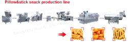 Pillow&stick snack production line