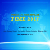 Welcome to visit BIOBASE at FIME 2017