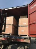 load to container of UV coating machine , laminating machine