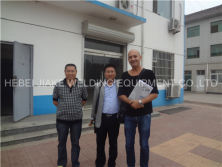Romania customer come to visit 3-8mm steel rebar mesh welding machine