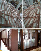 Decorative Aluminum Partition & stair railing system for Maksim