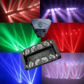 8X10W RGBW Moving Head Beam LED Spider Disco Light