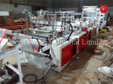 Automatic drawstring trash bags making machine