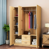 Modern Customizable 3 Door 2 Drawer Wardrobe