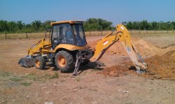 Lovol backhoe loader in Brazil