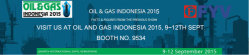 VISIT US at OIL and GAS INDONESIA 2015, 9~12TH SEPT.