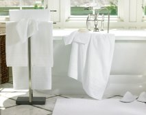 Soft and white bath towel