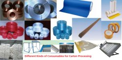 CONSUMABLES for CARDBOARD and CARTON PROCESSING