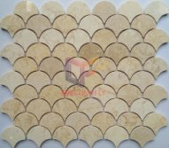 Natural egyptian yellow fish style marble stone mosaic tile(CFS1379)