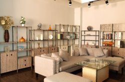 Steel-wooden Furniture Show Room