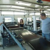 Customer test PE Sheet Production Line in our factory