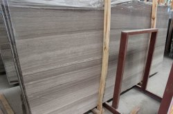 Wholesale High Quality Wood Grey Marble Slabs From China