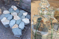 Meshed slate paver on sales