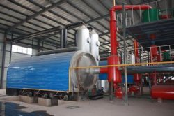 Pollution free plastic to oil pyrolysis equipment