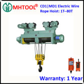CD1 MD1 Electric Wire Rope Hoist with Motorized Trolley