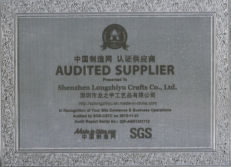 Audited supplier certificate 2015