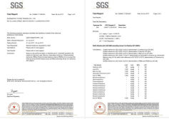 SGS Certificate of Nonwoven Face Mask