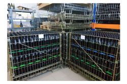 Wine Bottles Storage Wire Mesh Cage