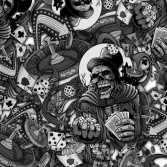 Tsautop new arrival 0.5/1m width skulls hydrographic transfer printed film
