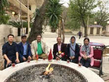 Visiting Iran clients′ factory