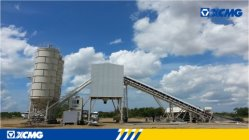 XCMG concrete mixing plant applied to Senegal Residential Construction Project.