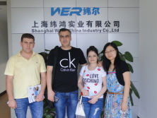Two clients come from Tajikistan to view A2 dual head uv printer