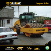 Sinoway Hydraulic Road Roller in South America