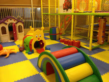 indoor playground in showroom