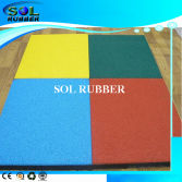 CE certificated outdoor safety Floor Bright EPDM Rubber tile