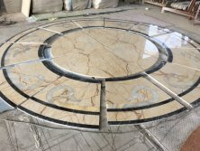 Water Jet Marble Medallion For Hotel Lobby