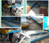 Scissor lift with trolley exported to Nigeria