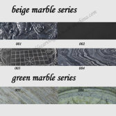 black/green marble series